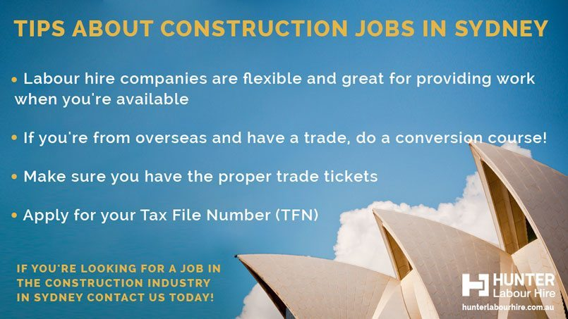 5 Steps to getting a Construction Job in Sydney - Hunter Labour Hire