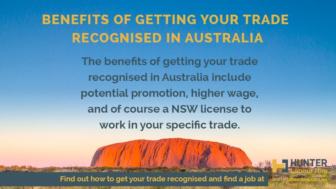 Getting trade recognised in Australia - Benefits of recognised trade