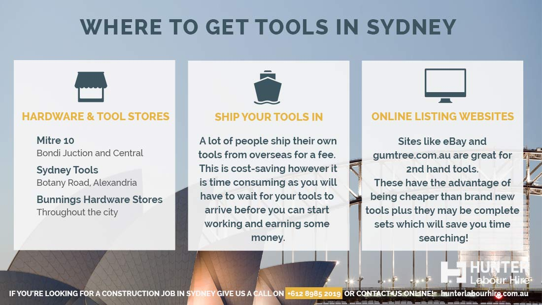 Where to get tools in Sydney - Labour Hire Tips