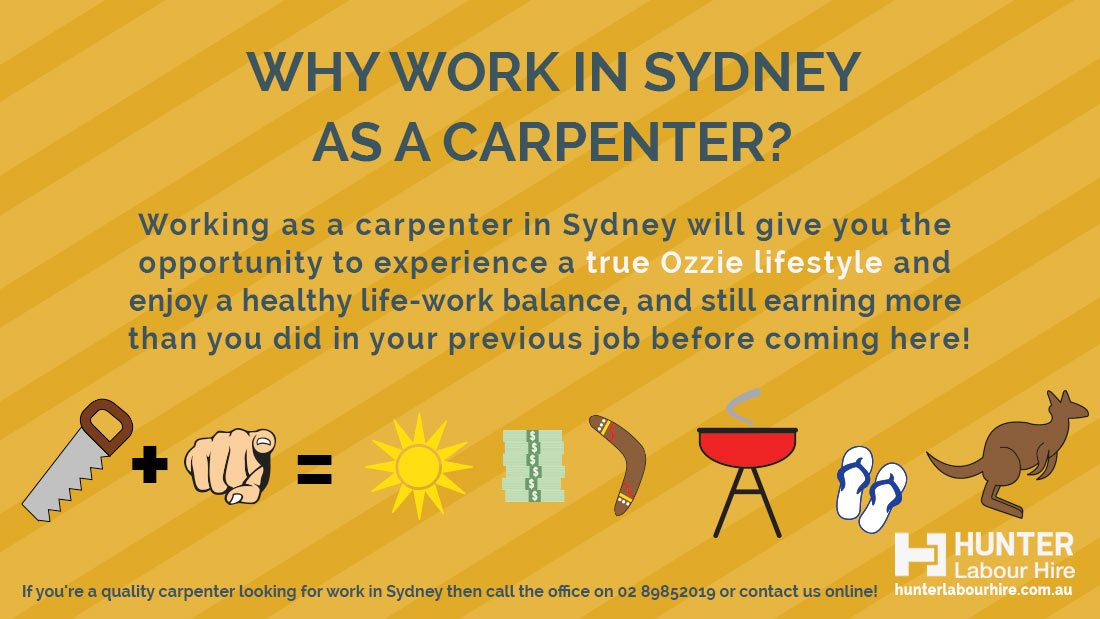 Carpentry Jobs in Sydney - Why Work as a carpenter in Sydney