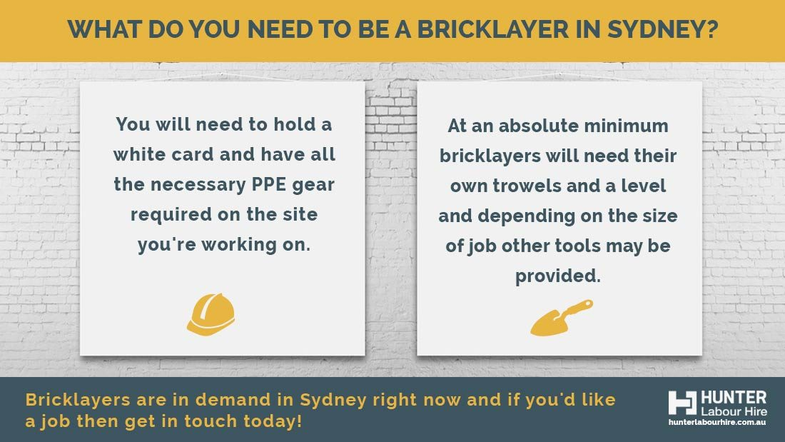 Bricklayers Jobs in Sydney - Positions Available!