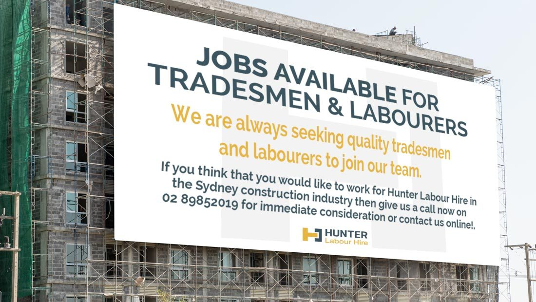 Jobs Available For Tradesmen & Labourers in Sydney - Hunter Labour Hire