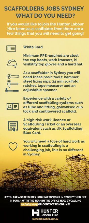 Scaffolders Jobs Sydney - What Do You Need - Hunter Labour Hire Sydney