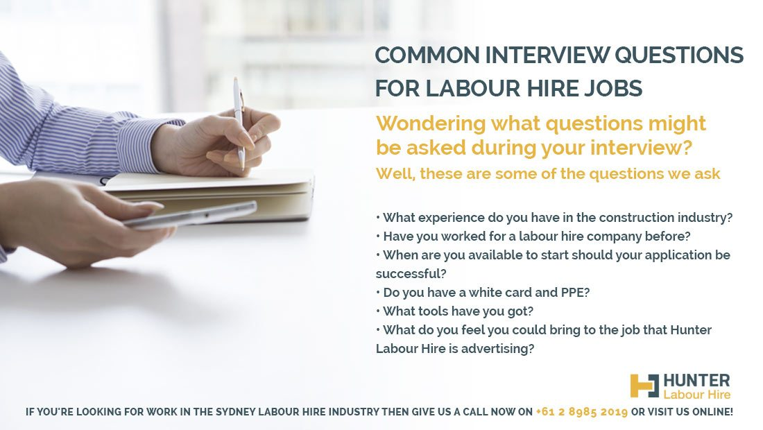 Common Interview Questions - Hunter Labour