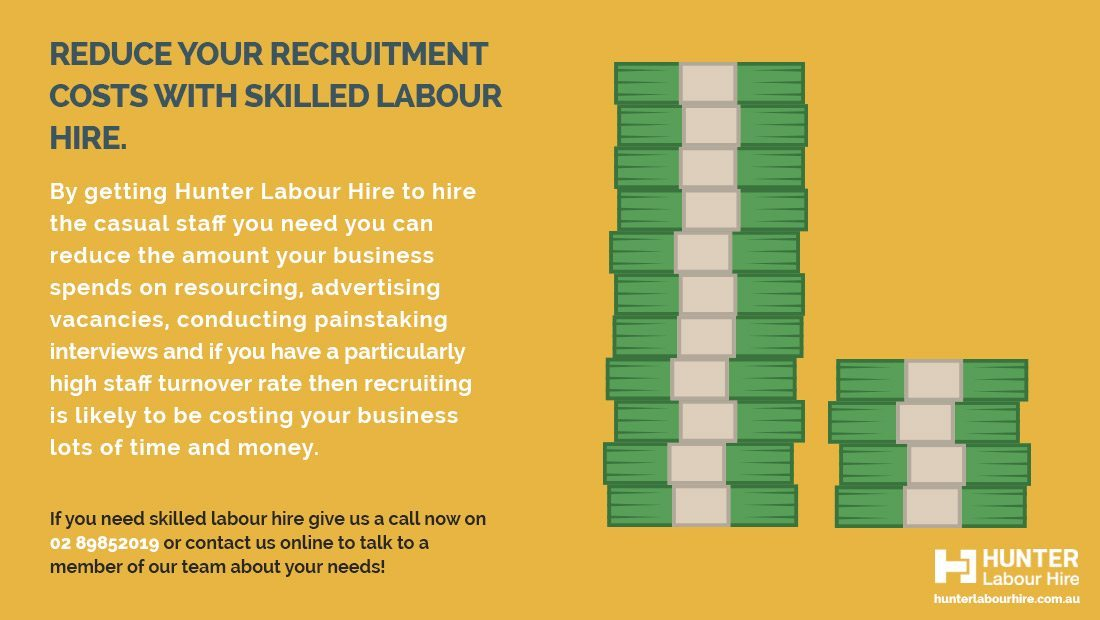 Labour Hire Recruitment Cost Reduction - Hunter Labour Hire Sydney