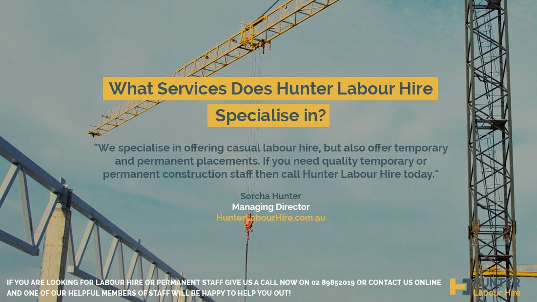 What services does Hunter Labour Hire Specialise In