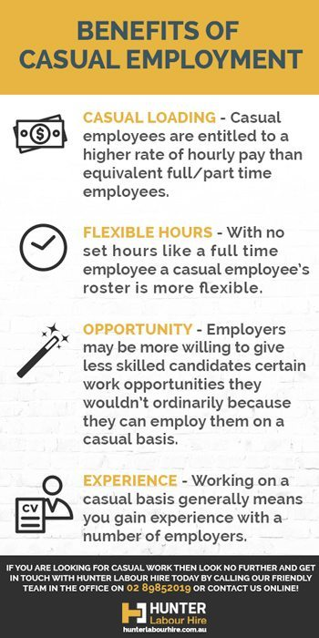 Benefits of Casual Employment - Hunter Labour Hire