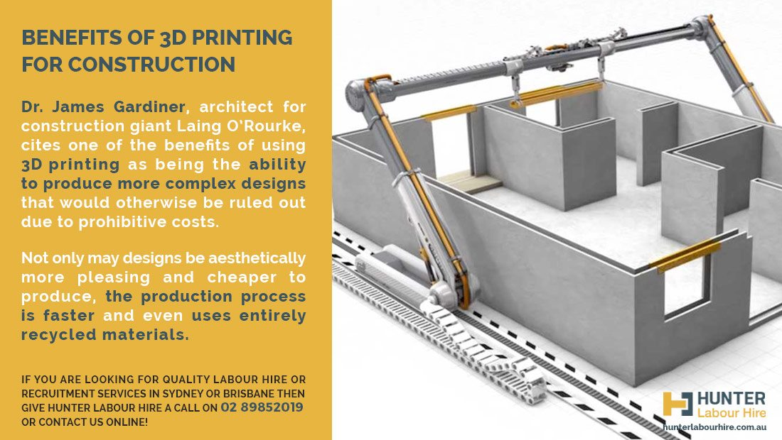 Benefits of 3D Printing for Construction - Hunter Labour Hire