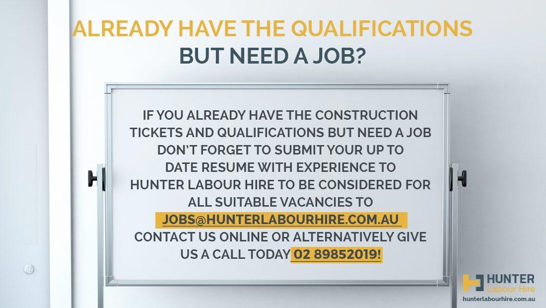 Construction Jobs in Sydney