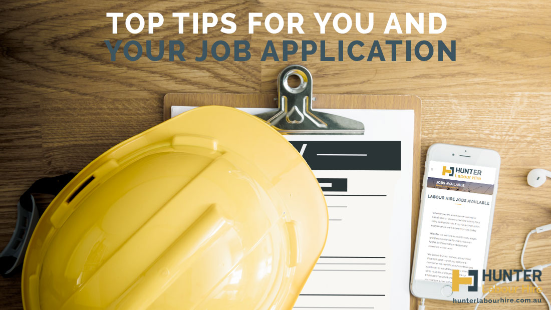 Tips for Job Applications - Hunter Labour Hire Sydney