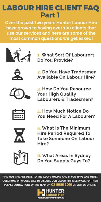 Labour Hire Sydney - FAQ - Hunter Labour Hire