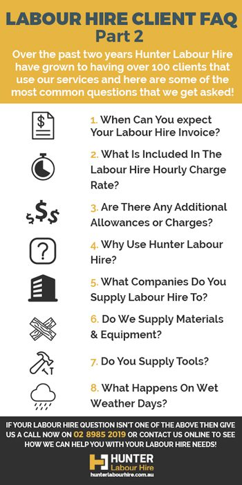Labour Hire Companies Sydney - Clients FAQ Part 2 - Hunter Labour Hire