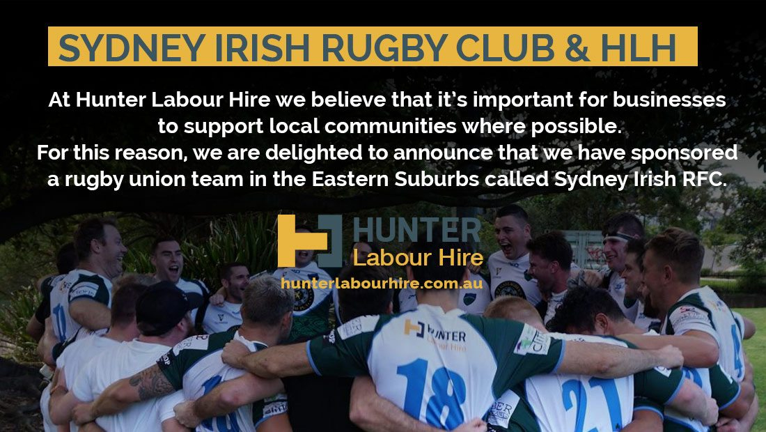 Sydney Irish RFC Sponsor Hunter Labour Hire