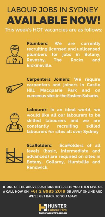 Labour Jobs in Sydney - Hunter Labour Hire