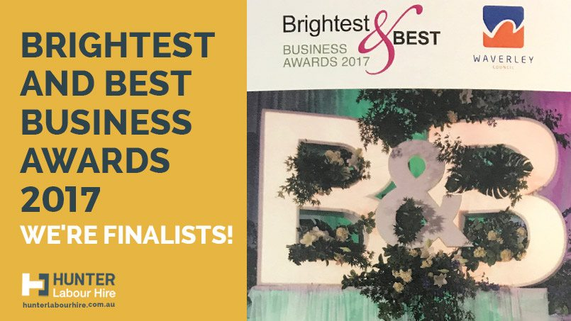 Brightest And Best Business Awards 2017 Finalists - Hunter Labour Hire