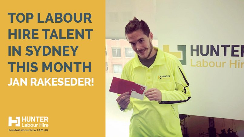 Top Labour Hire Talent in Sydney This Month - Jan Rakeseder - Hunter Labour Hire