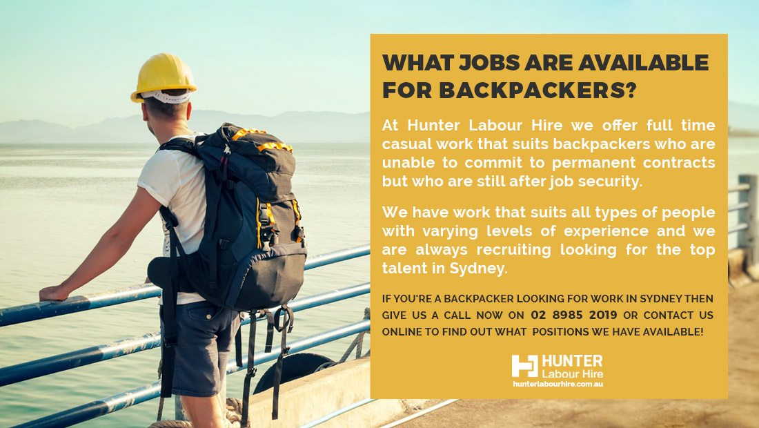 What construction jobs are available for backpackers in Sydney - Hunter Labour Hire
