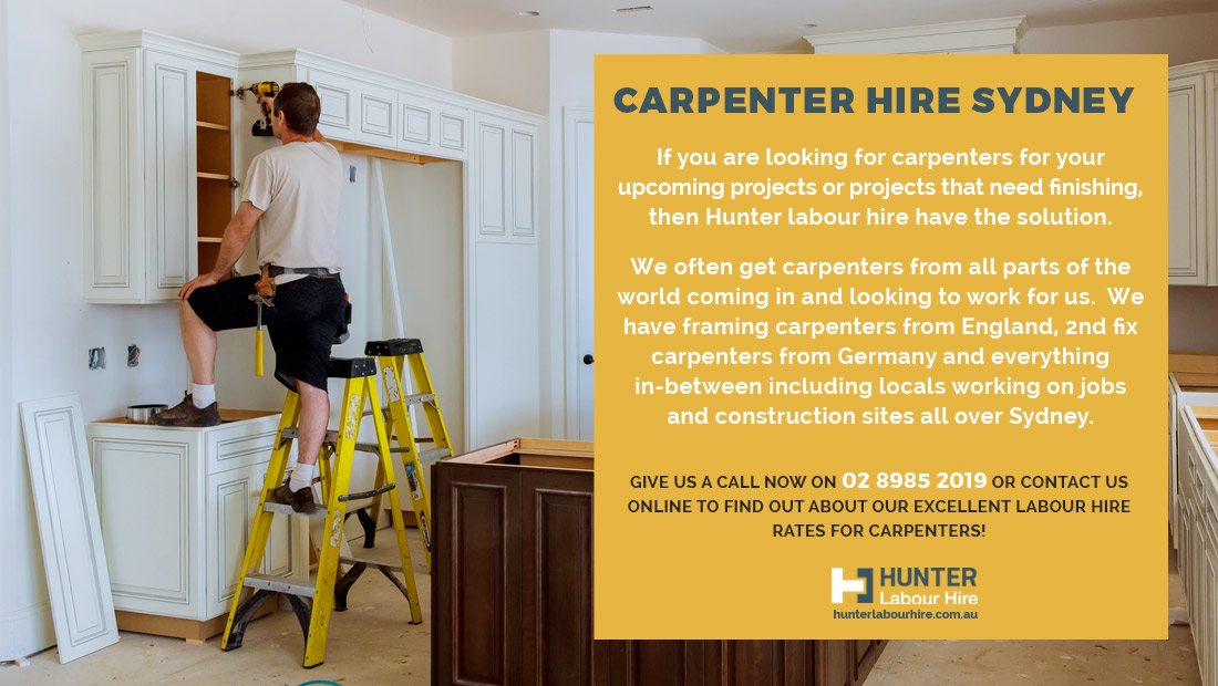 Carpenter Hire Sydney - Hunter Labour Hire