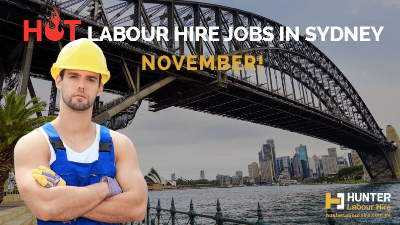 Hot Labour Hire Jobs in Sydney November - Hunter Labour Hire