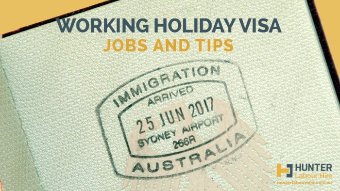 Working Holiday Visa Jobs and Tips - Hunter Labour Hire Sydney