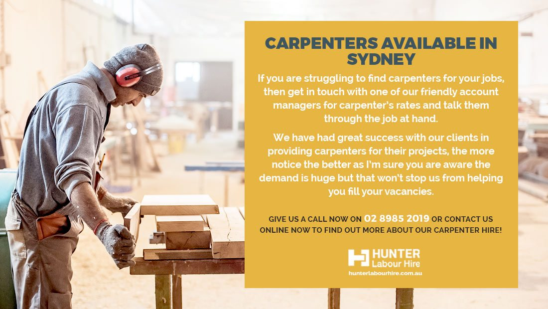 Carpenter Jobs in Sydney - Hunter Labour Hire