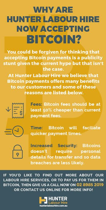 Labour Hire Company Accepting Cryptocurrency Payments - Hunter Labour Hire