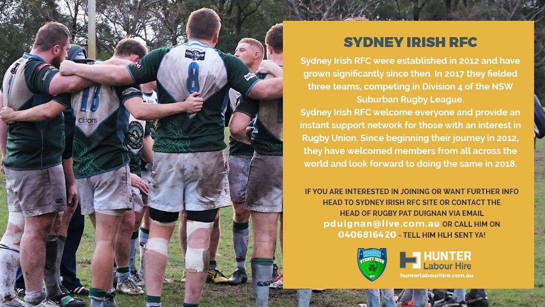 Sydney Irish Rugby Football Club Sponsor