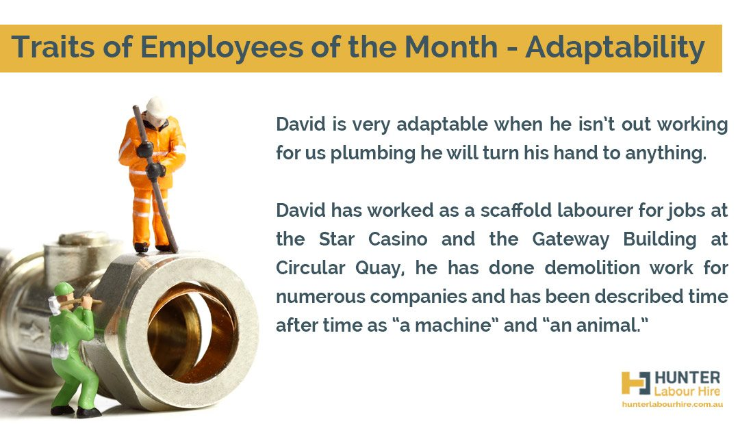 Traits of Employees of the Month - Hunter Labour Hire