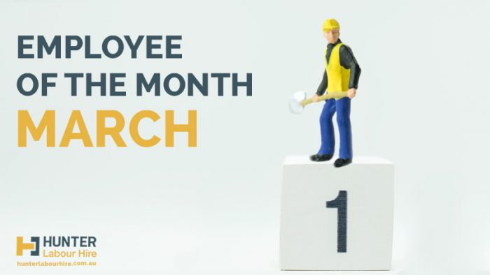 Hunter Labour Hire Sydney - Employee of the Month - March