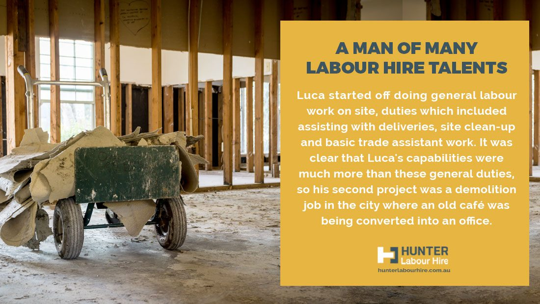 Labour Hire Talent - Luca Christ - Employee of The Month