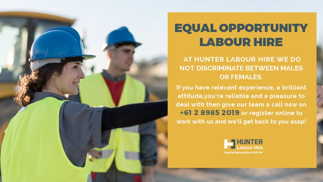 Equal Opportunity Labour Hire - Hunter Labour Hire Sydney