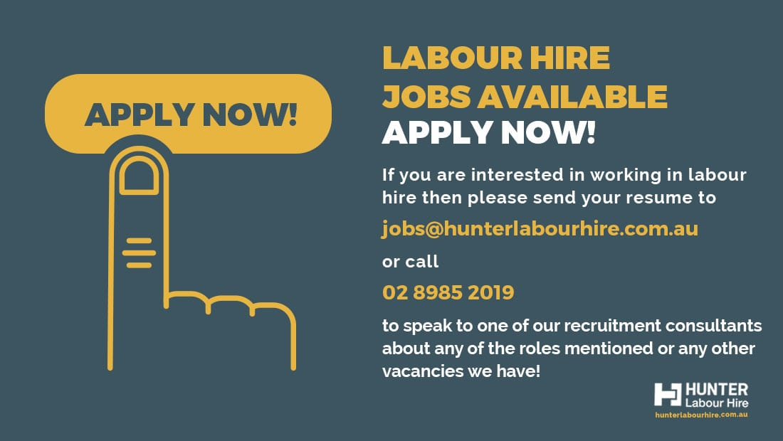 Labour Hire & Construction Jobs in Sydney Now - Hunter Labour Hire