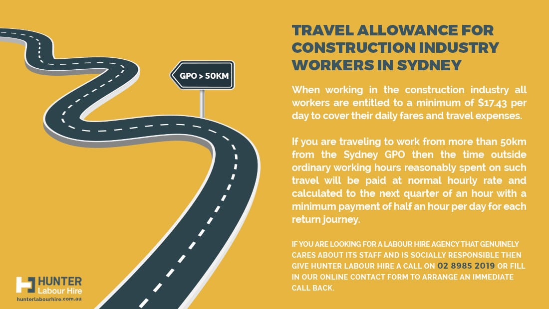 Travel Allowance for Construction Inudstry Sydney