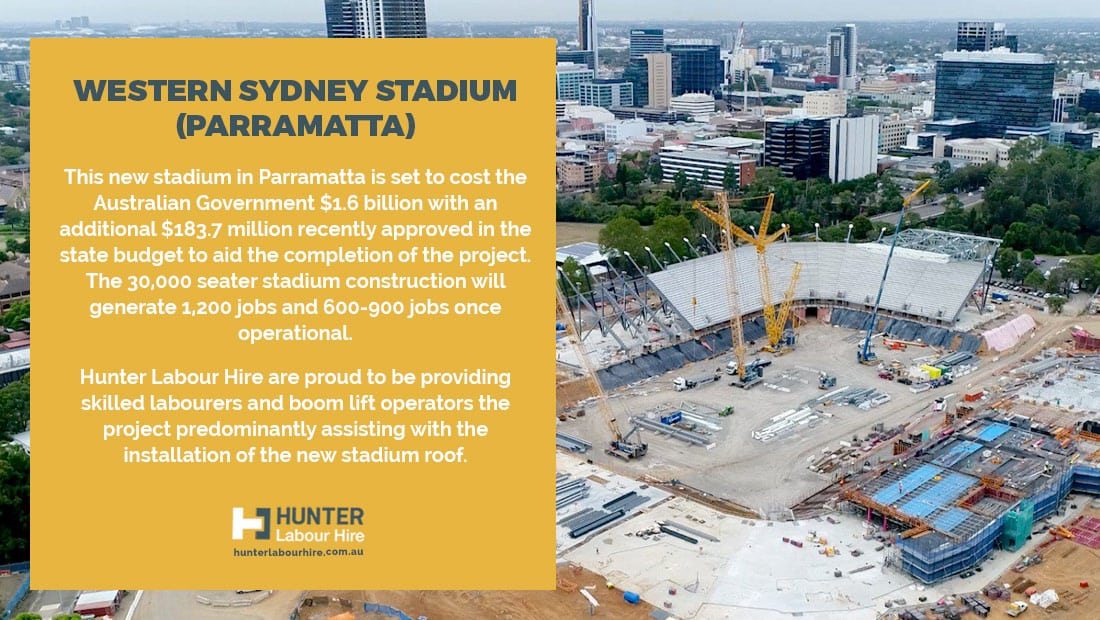 Western Sydney Stadium - Parramatta - Hunter Labour Hire