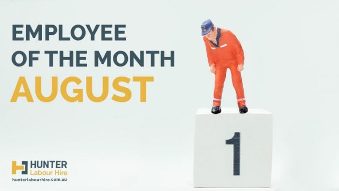 Employee of the Month - August - Junter Labour Hire