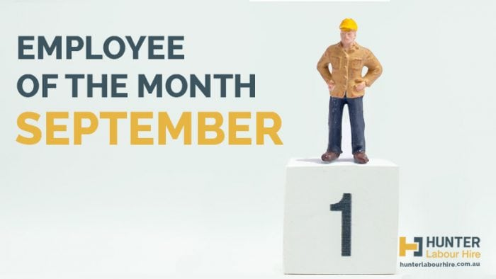 Employee of the Month - September - Hunter Labour Hire Sydney