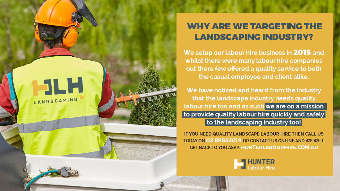 Landscaping Labour Hire Sydney from Hunter Labour Hire