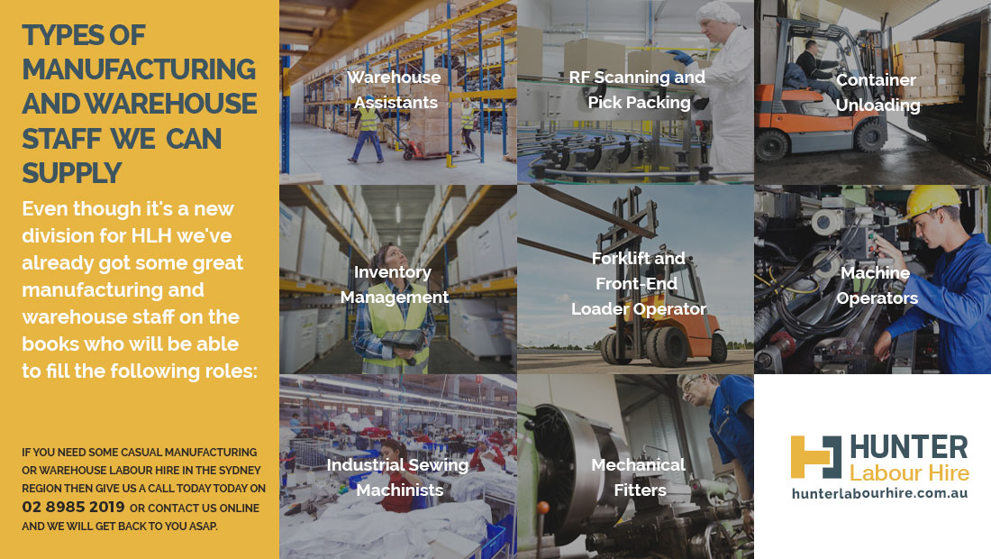 Manufacturing and warehouse labour hire