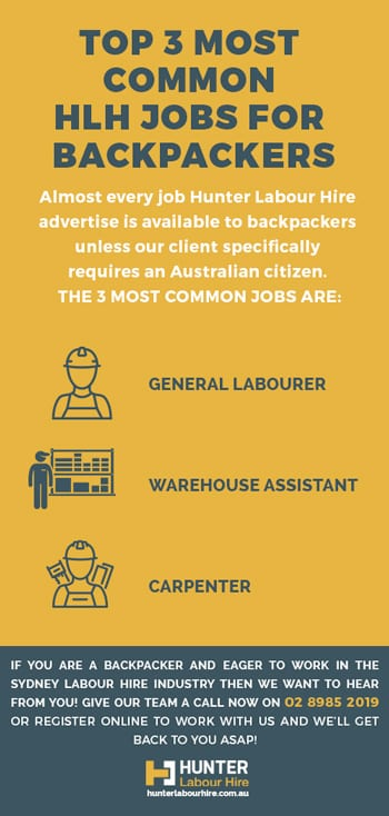 Common Construction Jobs for Backpackers - Hunter Labour Hire Sydney