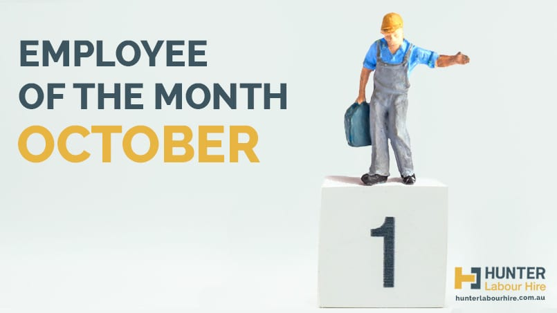 Hunter Labour Hire - Employee of the Month - October