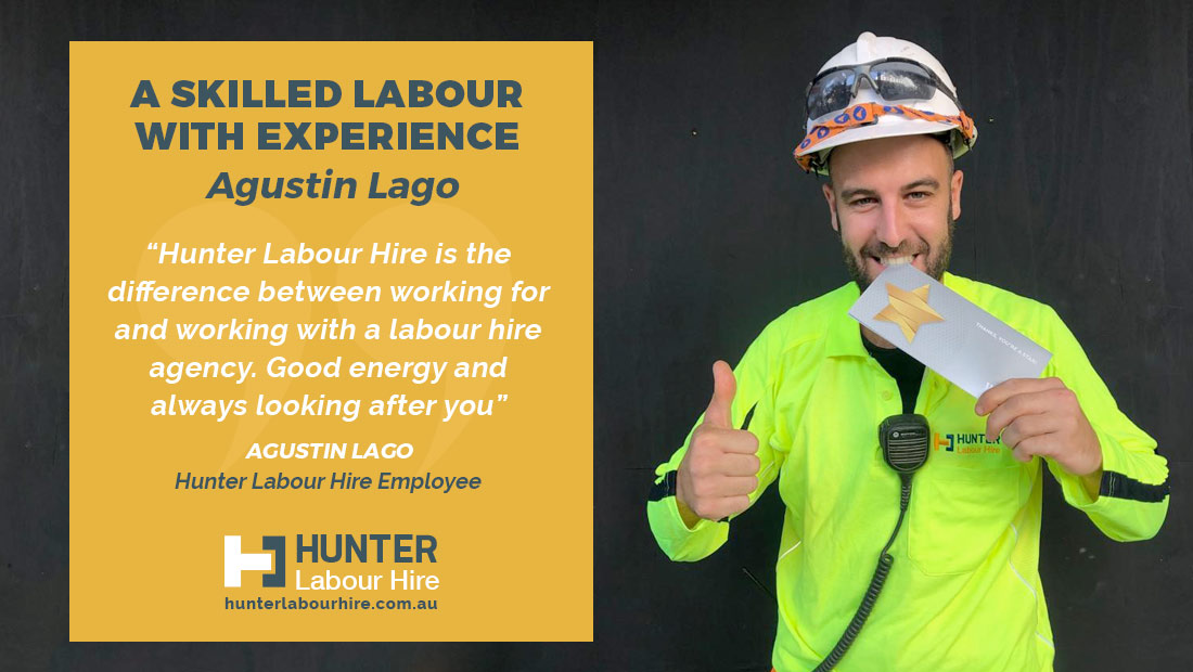 Employee of the Month - December - Agustin Lago - Hunter Labour Hire
