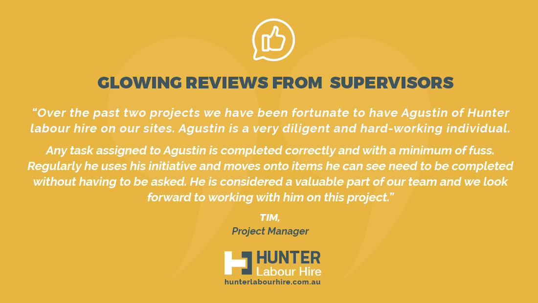 Hunter Labour Hire Agustin Lago Review