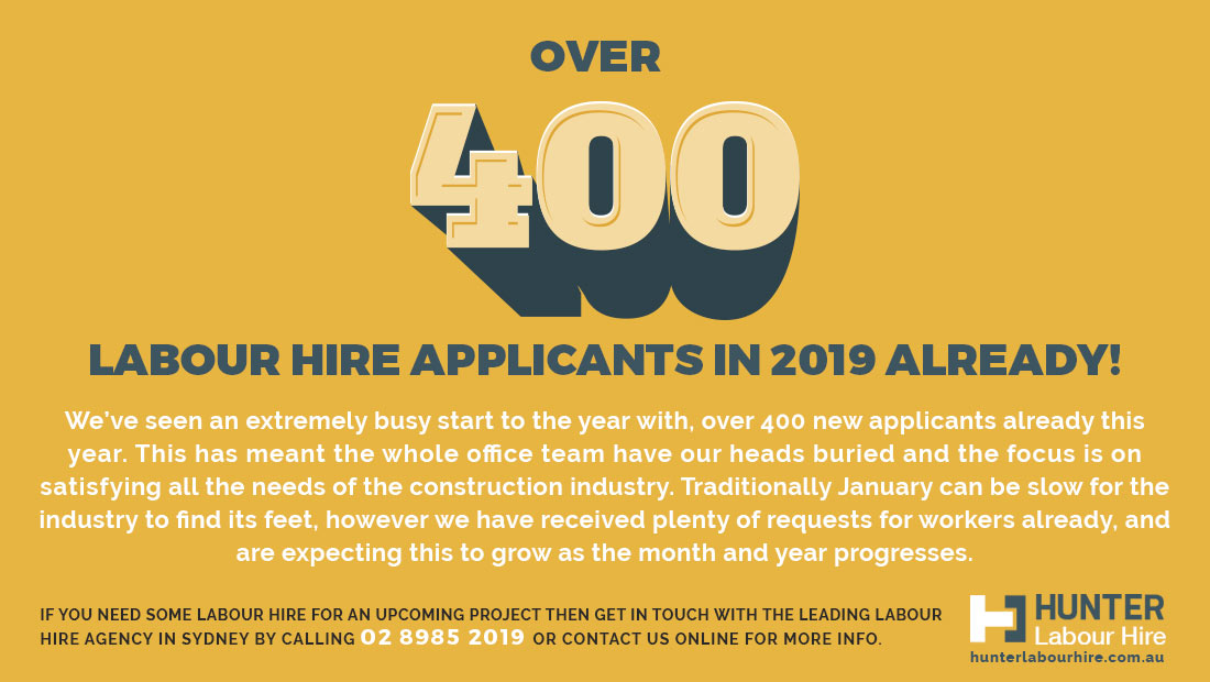 400 Labour Hire Applications Already - HLH