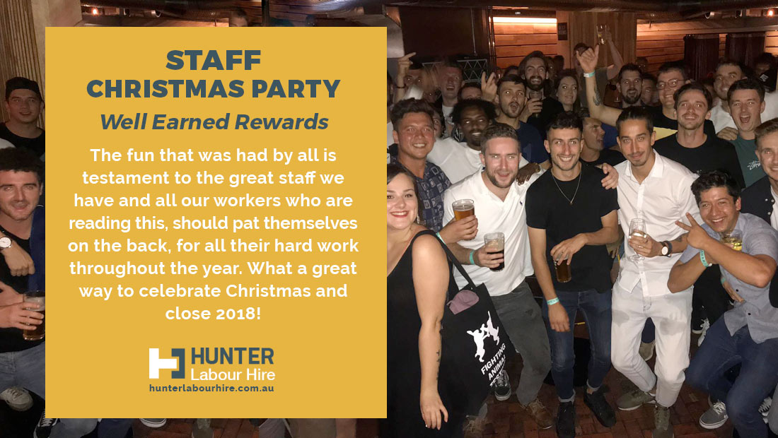Hunter Labour Hire Staff Christmas Party 2018