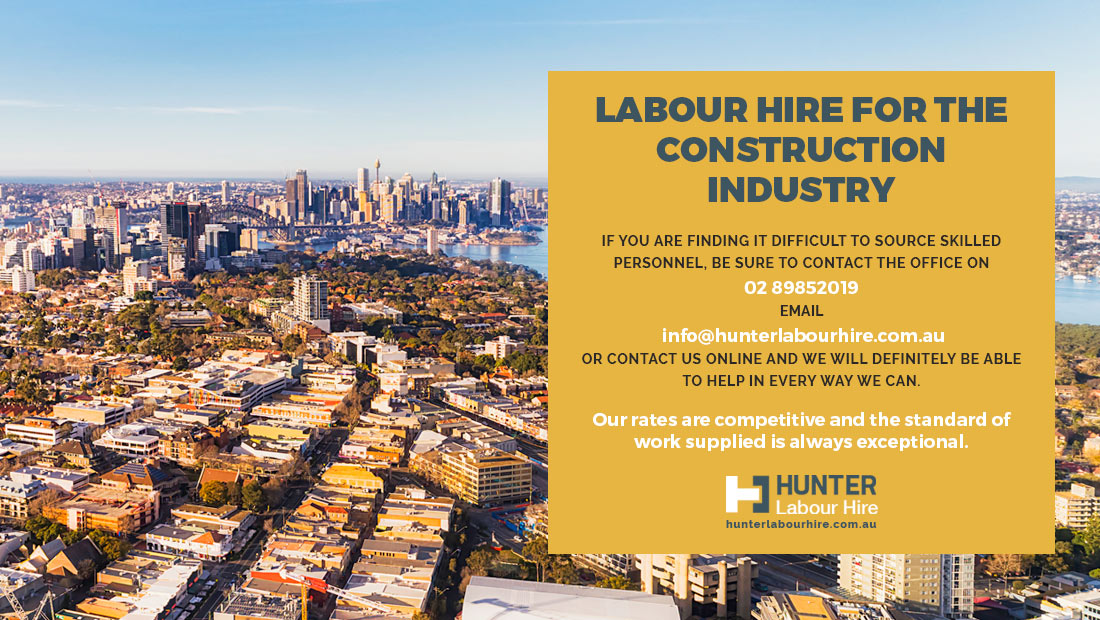Labour Hire for Sydney Construction Industry - Hunter Labour Hire