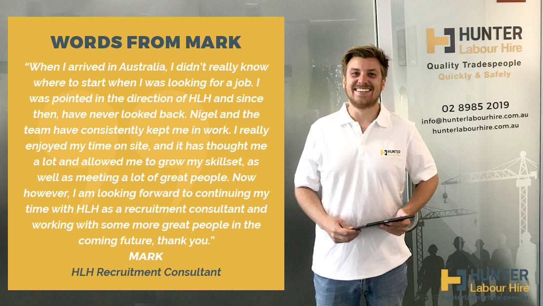Mark Marini - Hunter Labour Hire Employee of the Month January