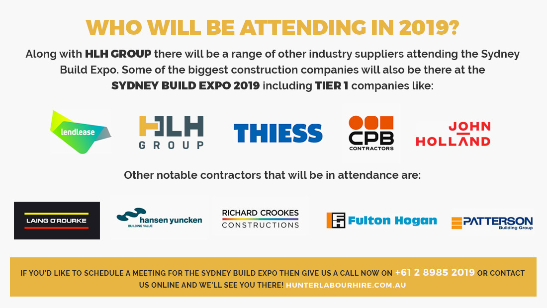 Sydney Build Expo 2019 Exhibitors - Hunter Labour Hire