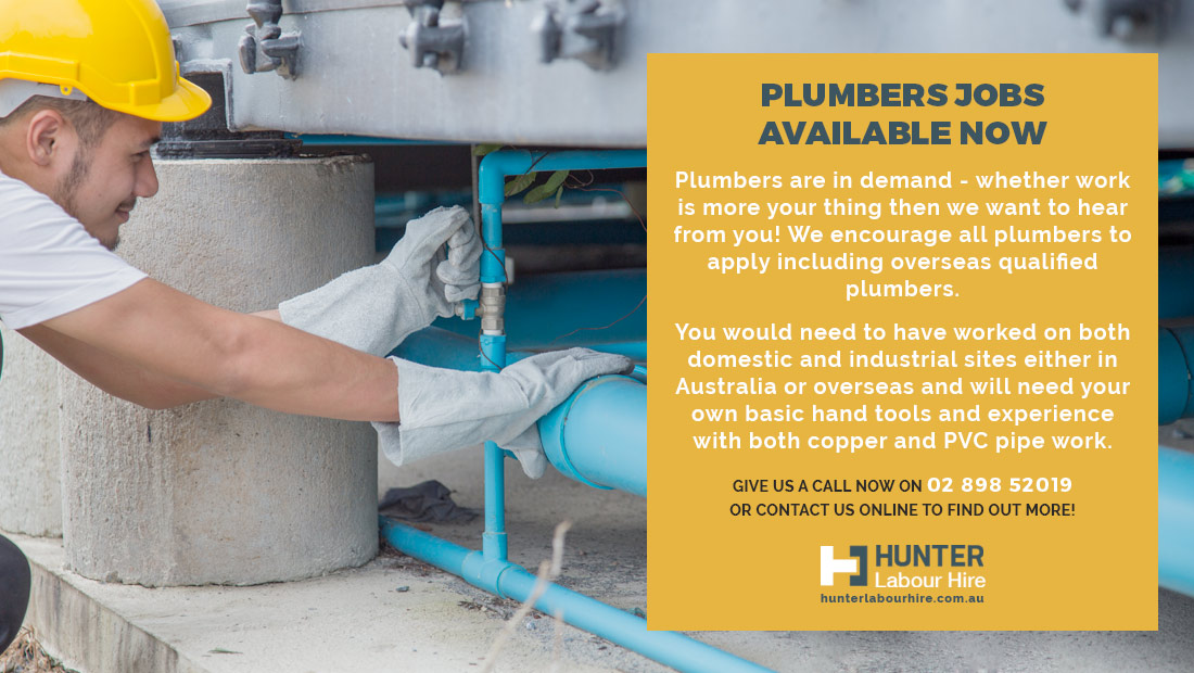 Autumn Plumber Jobs in Sydney - Hunter Labour Hire