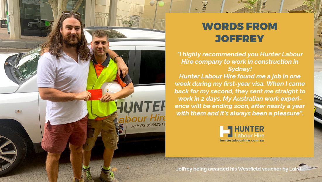 Employee of the Month - February 2019 - Joffrey Bonnaire