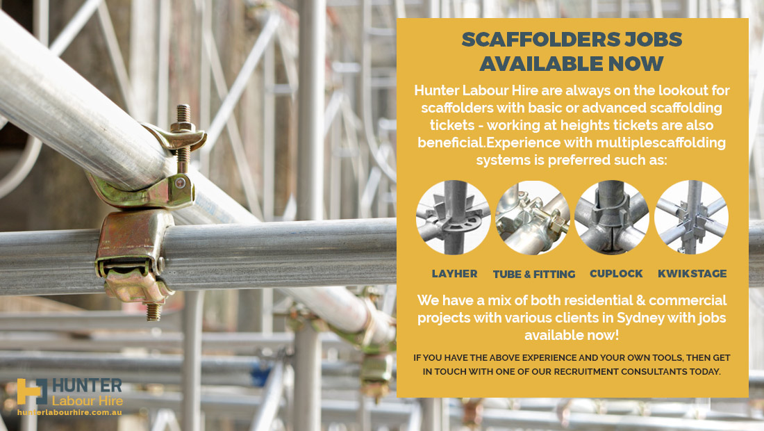 Scaffolders Jobs Available - Sydney Autumn Work